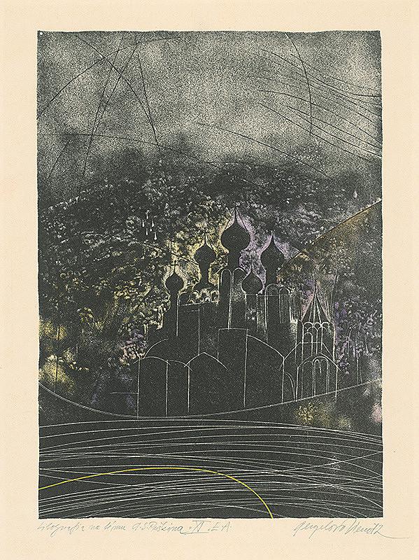 Viera Gergeľová – Litografia na tému A.S.Puškina 11