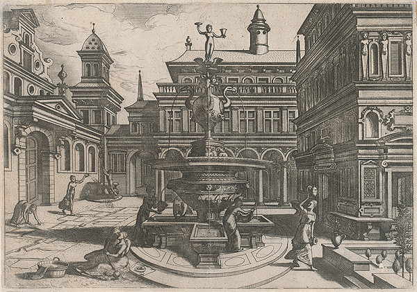Taliansky rytec zo začiatku 16. storočia, Neznámy umelec - Fontána (2)