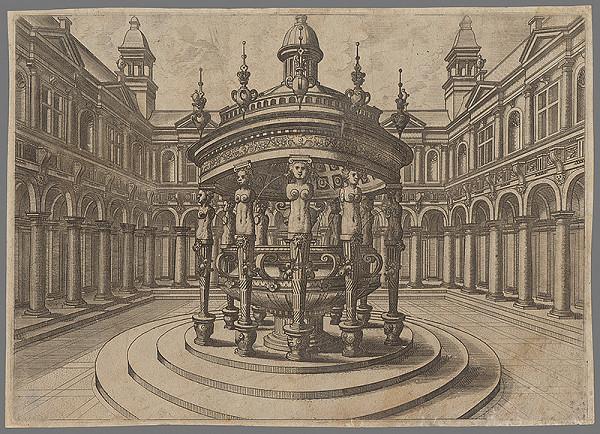 Taliansky rytec zo začiatku 16. storočia, Neznámy umelec – Fontána (4)