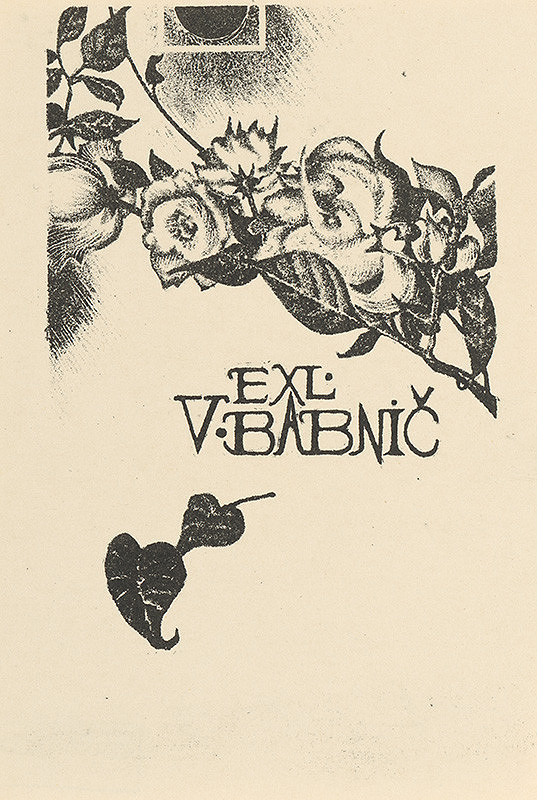 Naďa Rappensbergerová-Jankovičová - Ex libris V.Babnič