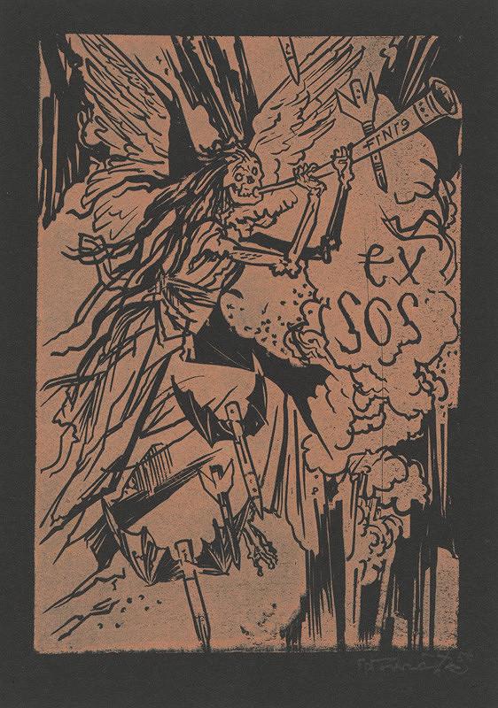 Jaroslav Vodrážka - Ex libris SOS