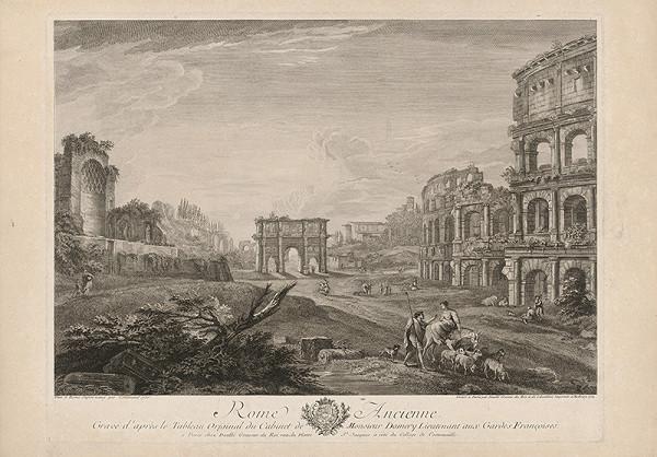 Jean Daullé, Neznámy nemecký maliar – Pohľad na Konštantínov oblúk a Koloseum v Ríme