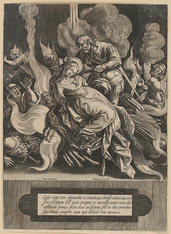 Philip Galle, Jan van der Straet - Smrť svätice