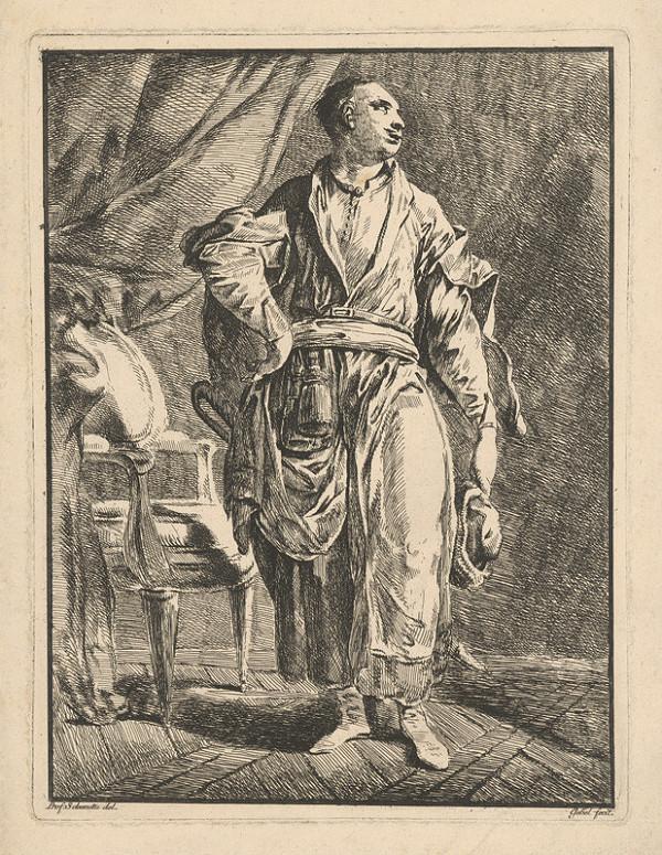 Mathes Gebel, Schendu – Muž v interiéri