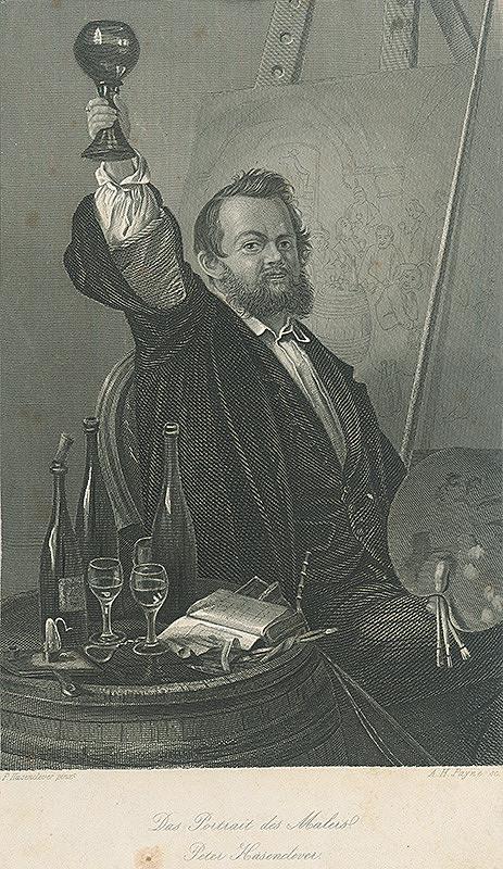 Albert Henry Payne, Johann Peter Hasenclever, William Hogarth - Portrét maliara Petra Hasenclevera