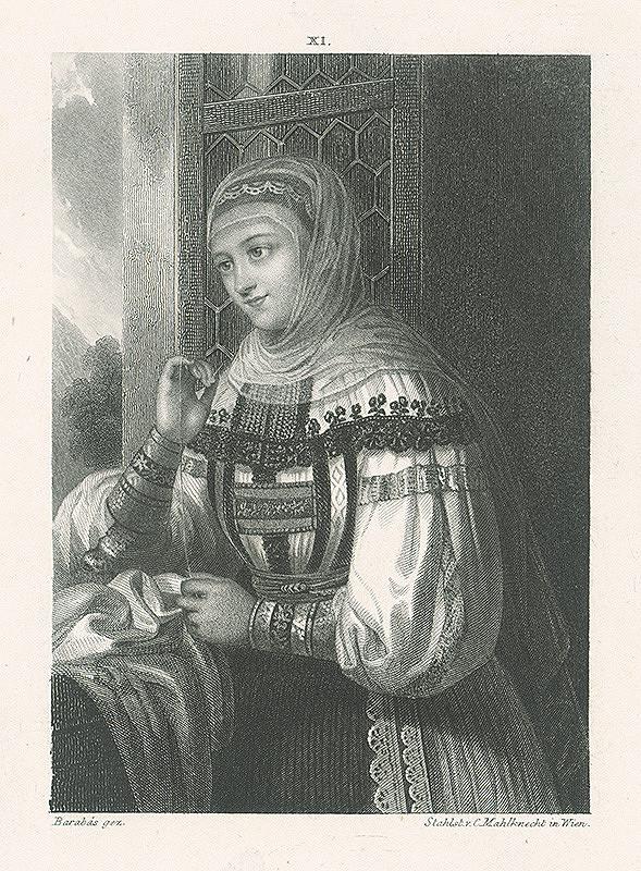 Miklós Barabás, Carl Mahlknecht – Žena v kroji