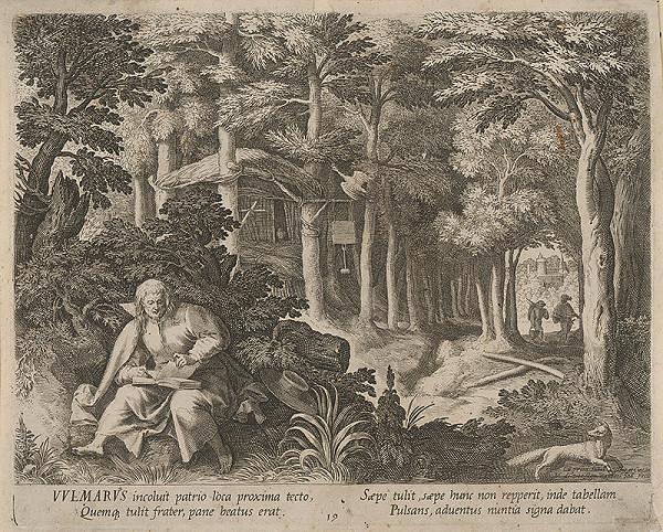 Raphael Sadeler I., Maarten de Vos st. - Svätý pustovník