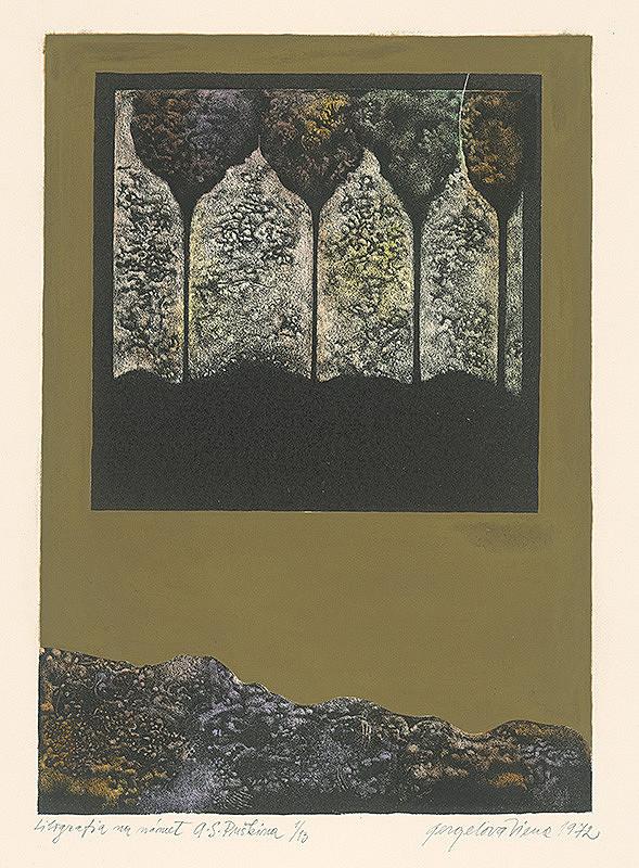 Viera Gergeľová – Litografia na námet A.S.Puškina