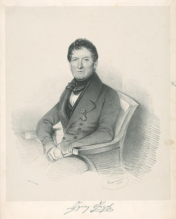 Rudolf Gaupmann - Portrét muža v empírovom odeve