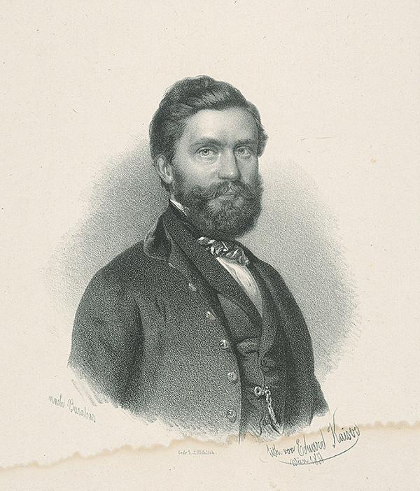 Eduard Kaiser, Miklós Barabás – Portrét muža podľa Barabása