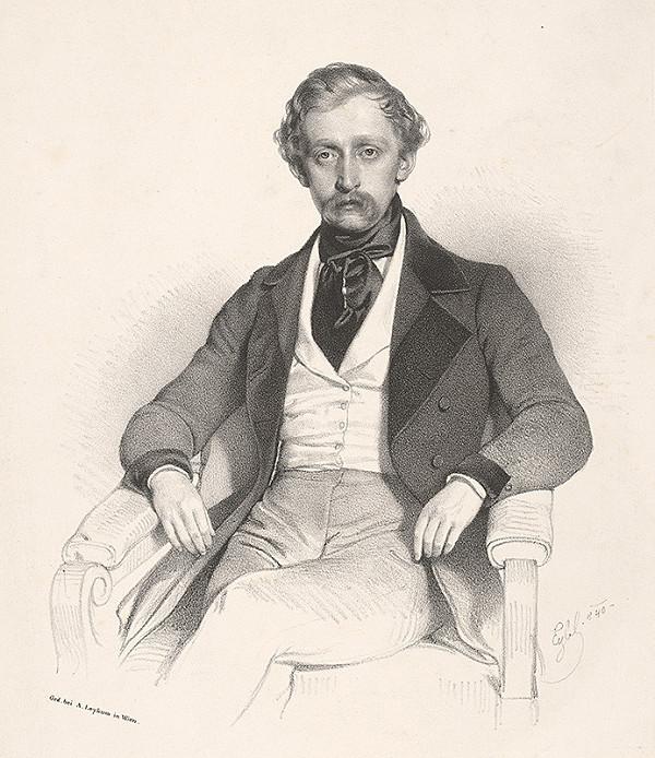 Adolf Eybel – Portrét sediaceho muža