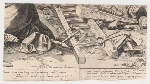 Marcus Sadeler, Jacopo Tintoretto – Fragment so zátiším tesárskych nástrojov