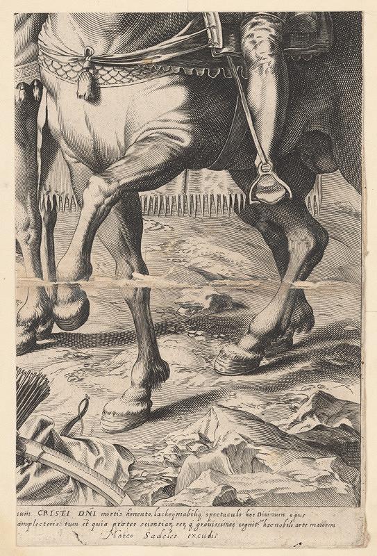 Marcus Sadeler, Jacopo Tintoretto – Fragment koňa