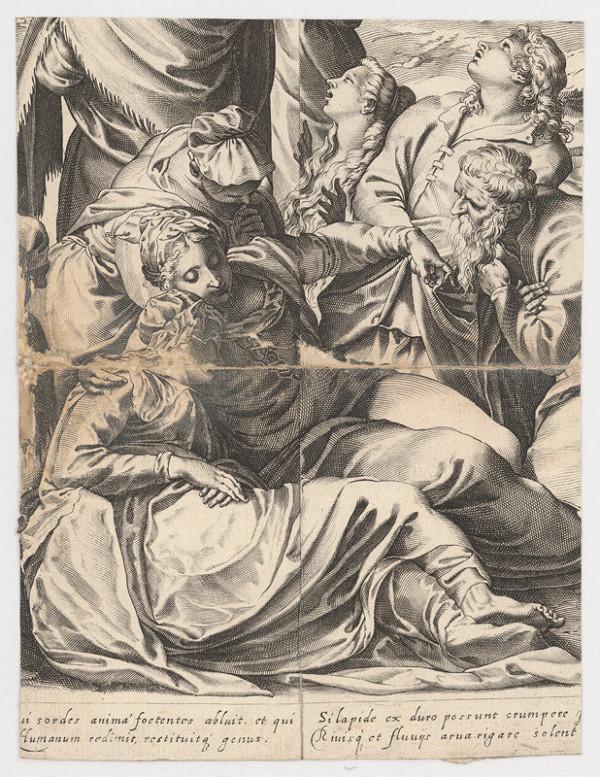 Marcus Sadeler, Jacopo Tintoretto - Fragment so skupinou smútiacich žien
