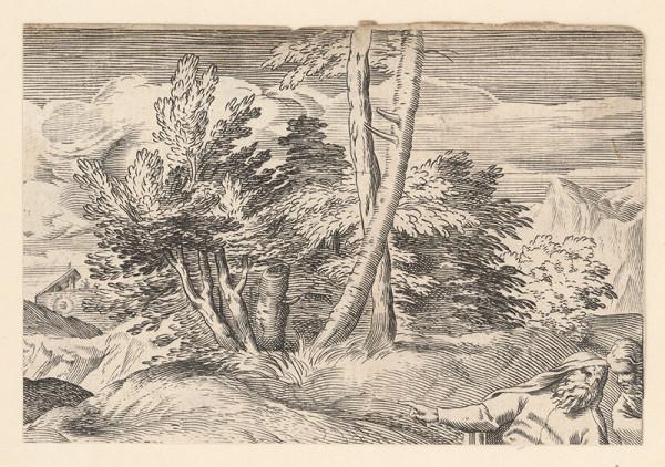 Marcus Sadeler, Jacopo Tintoretto - Fragment krajiny