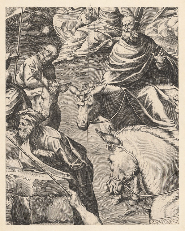Marcus Sadeler, Jacopo Tintoretto - Fragment so skupinou starcov