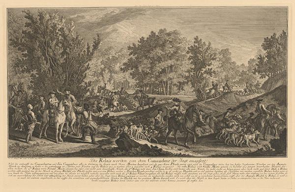 Johann Elias Ridinger - Začiatok lovu