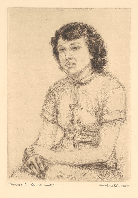 Karol Hučko – Portrét dievčaťa