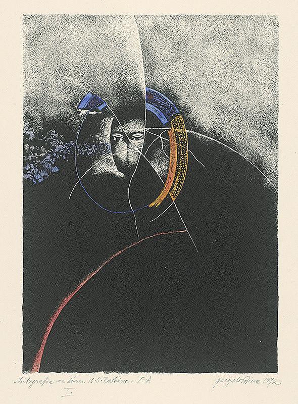 Viera Gergeľová – Litografia na tému A.S.Puškina 1.