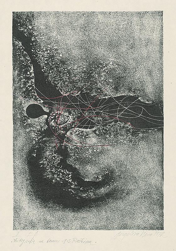 Viera Gergeľová – Litografia na tému A.S.Puškina 2.