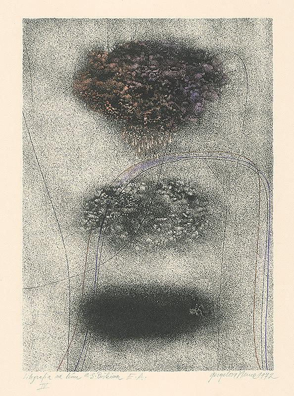 Viera Gergeľová – Litografia na tému A.S.Puškina 4