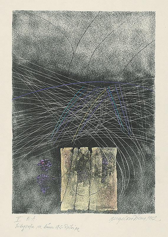 Viera Gergeľová - Litografia na tému A.S.Puškina 5.