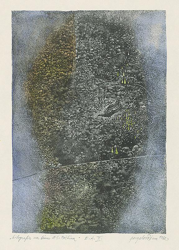 Viera Gergeľová – Litografia na tému A.S.Puškina 10.