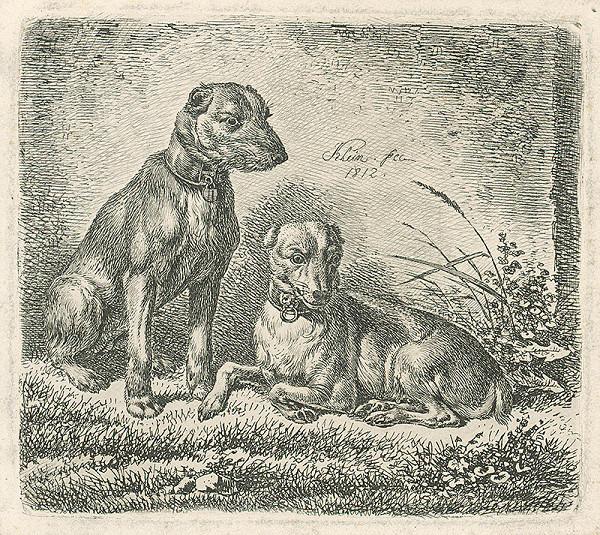 Johann Adam Klein – Dvaja psi