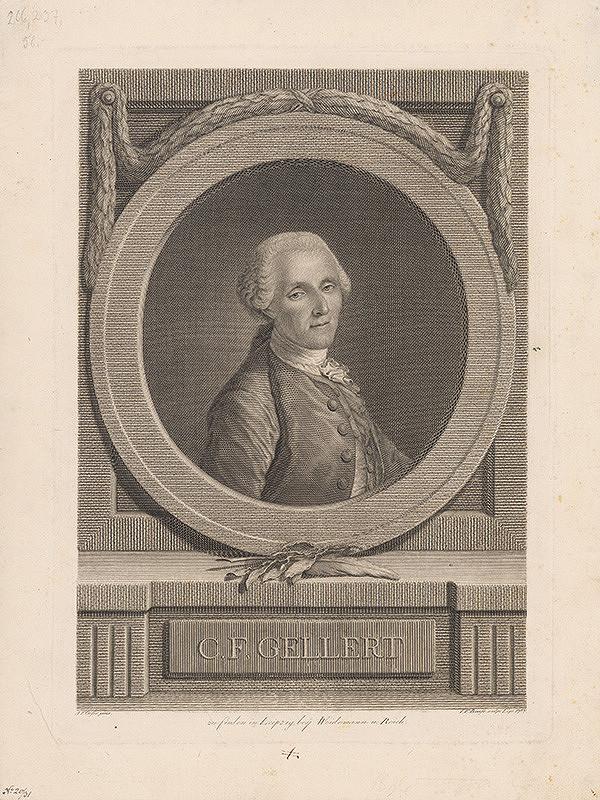 Johann Friedrich Bause, Adam Friedrich Oeser - C. F. Gellert