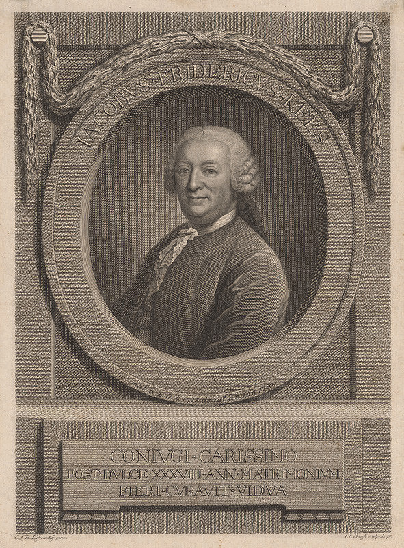 Johann Friedrich Bause, Christian F.Reinh. Lisiewsky – Portrét pána Keesa