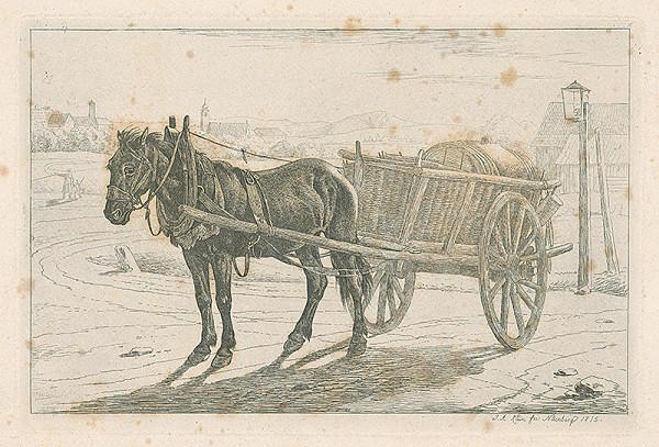 Johann Adam Klein – Kôň so záprahom