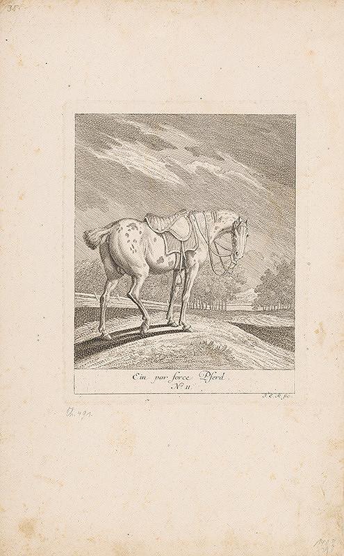 Johann Adam Klein, Johann Elias Ridinger – Grošovaný kôň