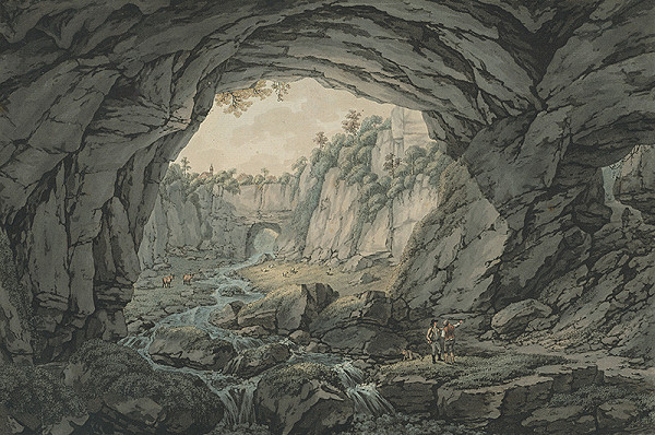 Stredoeurópsky autor z 19. storočia - Horská krajina