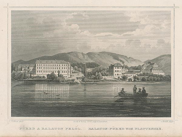 Carl Rohrich, Ludwig Rohbock – Pohľad na Balatonfüred od jazera
