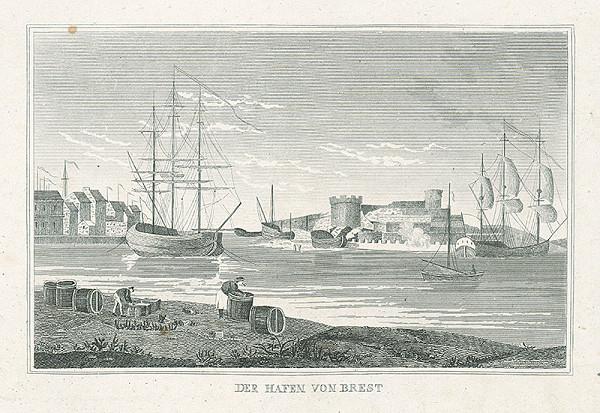 Nizozemský grafik z 19. storočia – Bretský prístav
