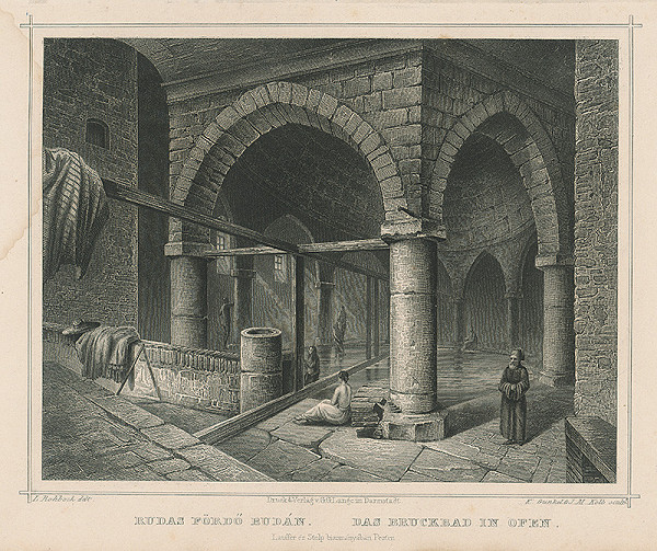 Ludwig Rohbock, K. Gunkel, Joseph Maximilian Kolb - Kúpele v Budíne