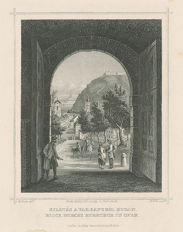 Ludwig Rohbock, Joseph Maximilian Kolb - Pohľad cez Budínsku hradnú bránu