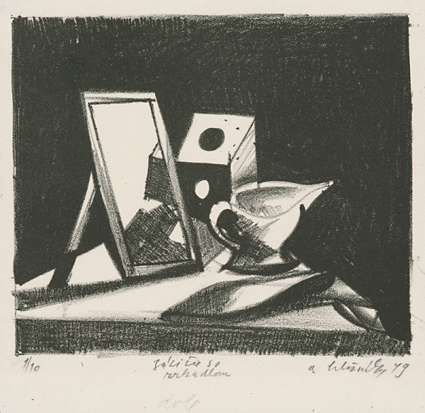 Vincent Hložník – Zátišie so zrkadlom