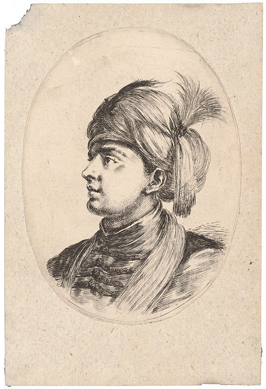 Stefano della Bella – Portrét mladého Turka
