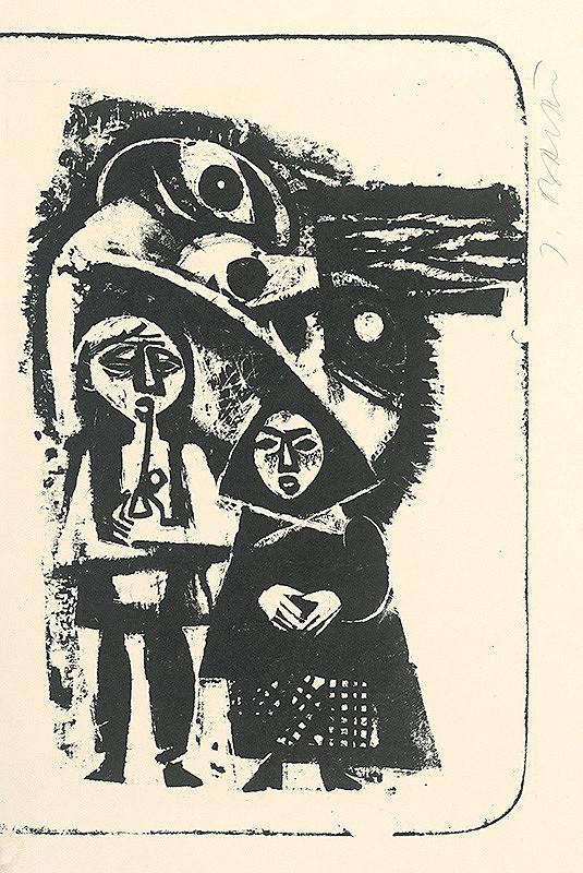 Jozef Baláž – 1. polstranová ilustrácia ku knihe Tri víly na salaši