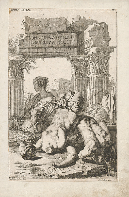 Jacob von Sandrart - Rímske zrúcaniny
