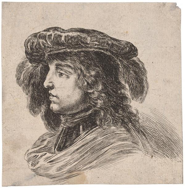Stefano della Bella – Portrét mladíka v barete