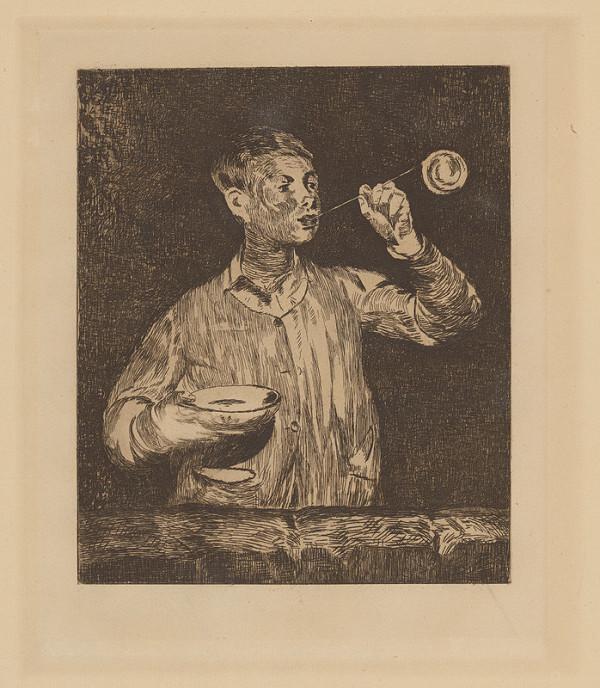Edouard Manet – Chlapec fúkajúci mydlové bubliny