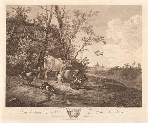 Adam Pynacker, Carl Wilhelm Weisbrod, Jacques Philippe Le Bas - Holandský rožný statok