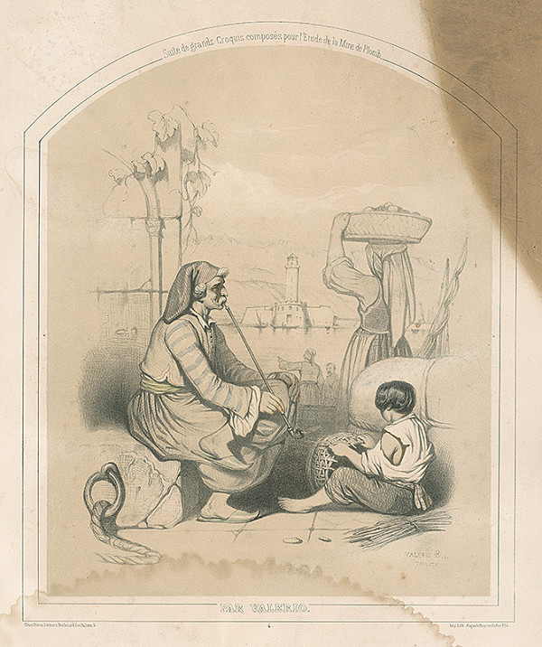 Théodore Valério – Fajčiar s chlapcom