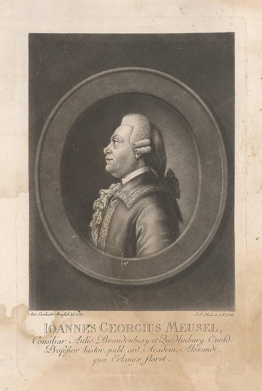 Johann Elias Haid, Andreas Leonhard Moeglich – Podobizeň J.Georgiusa Meusela