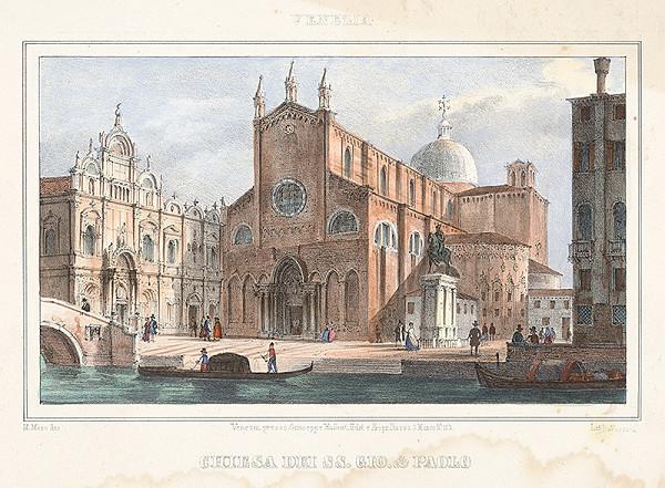 Alfréd Heinrich Pellegrini - Pohľad na chrám sv.Giovaniho a Paula