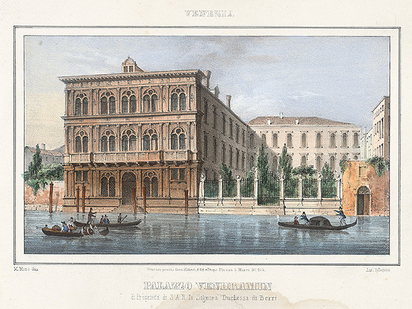 Alfréd Heinrich Pellegrini – Palác Vendramin v Benátkach