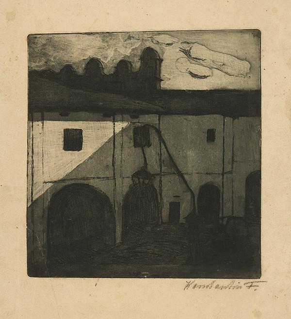 Frida Konstantin - Nádvorie kaštieľa v Strážkach