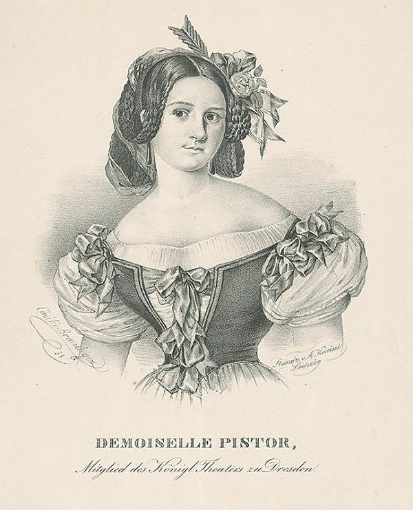 Cäcilie Brandt, August Kneisel - Portrét herečky D.Pistor
